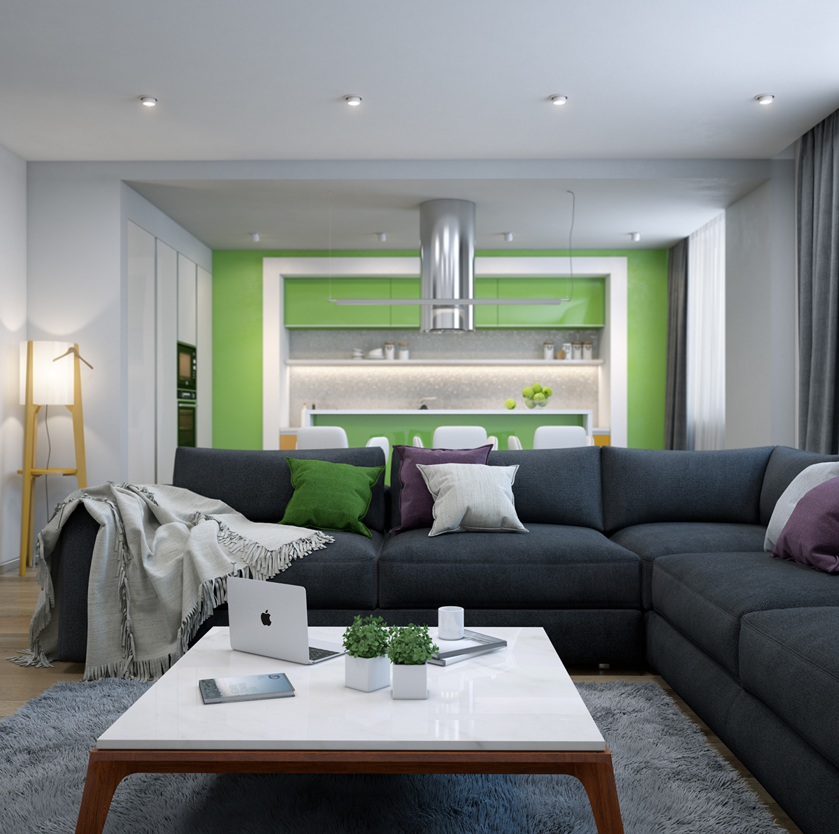 lime-green-accent-wall