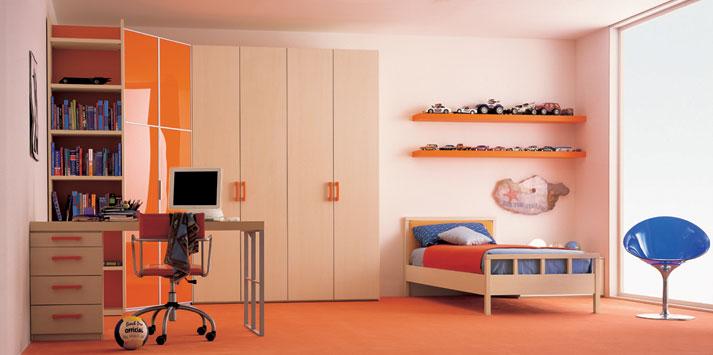 cream-orange-bed-room-1