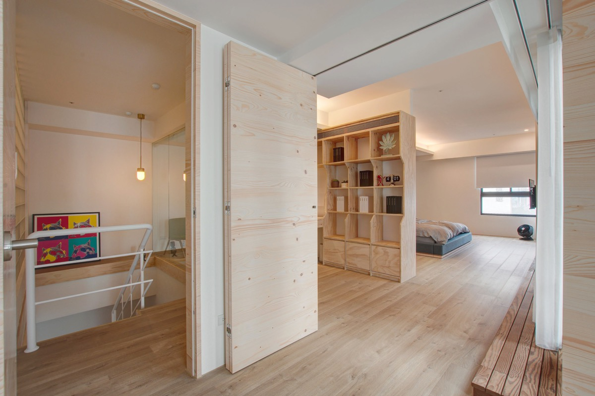 natural-wood-bedroom-and-office