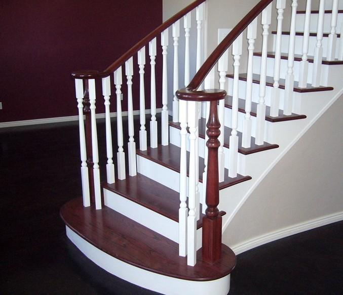 과거의 전형적인 형태의 계단 유형