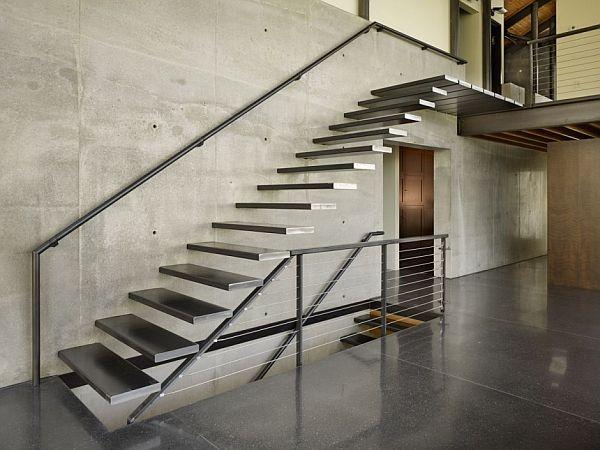 기능과 공간을 최소화 하고 있는 모던 스타일의 계단